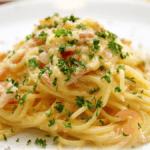 spaghetti carbonara au lait de chamelle