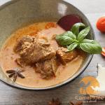 Curry de bœuf massaman au lait de chamelle camel-idee camel milk