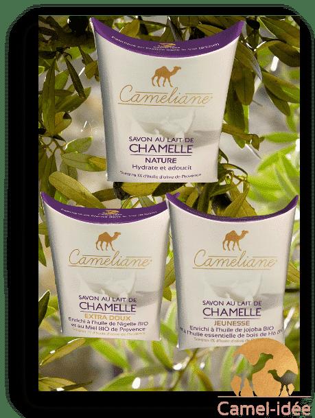 Lot de 3 savons au lait de chamelle camel-idee camel milk
